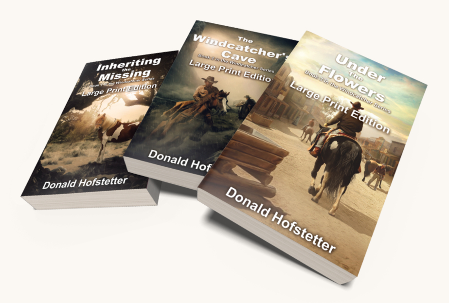 The three books in the Windcatcher Series in large print